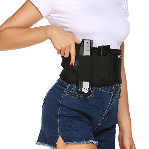 Holster for Belly Band Concealed Carry Ancheer Pistol Gun Holster Black...