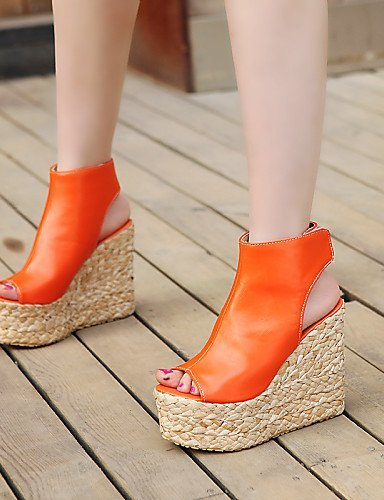 Platform Dress Wedges Blue ShangYi Heels Outdoor Women's Mules Sandals Heels Peep Clogs Heel Shoes CasualBlack Toe amp; qgAga046