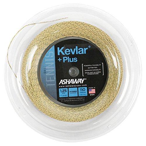 Natural 360' String Reel - ASHAWAY Kevlar Plus 1.25/17G 360 Foot Tennis String Reel-(813862021515)