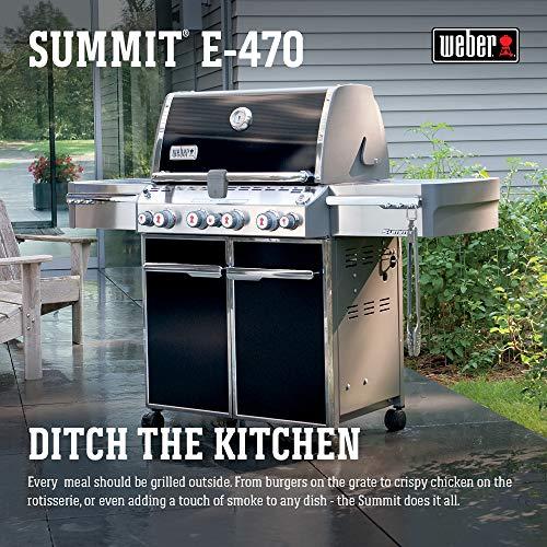 Weber Summit 7171001 E-470 580-Square-Inch 48,800-BTU Liquid-Propane G, Black