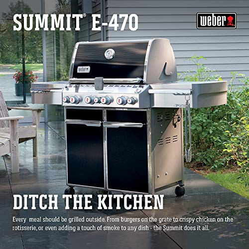 (Weber Summit 7171001 E-470 580-Square-Inch 48,800-BTU Liquid-Propane G, Black)