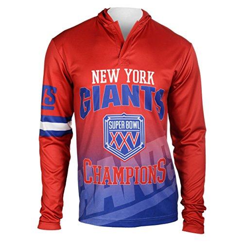 FOCO NFL New York Giants Super Bowl XXV Champions Hoody Tee, Large
