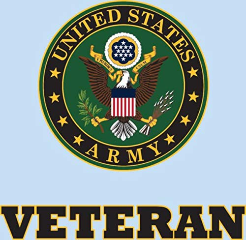 Army Veteran License Plate Bundle with Army Veteran Decal ArmyCrest