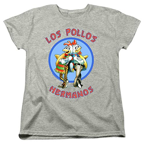 Breaking Bad Los Pollos Women's T Shirt & Stickers (Medium) (Breaking Bad Women Tshirt)