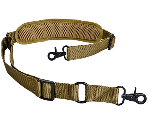 lanhe tactical 2 Point Rifle Sling with Shoulder Pad Quick Adjustable Gun Strap Multi-Use Two Point Sling (Tan)