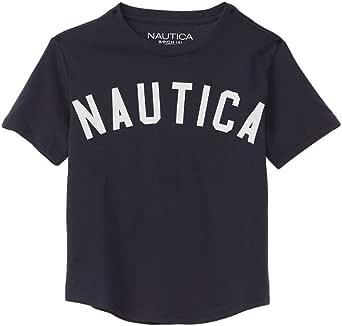 NAUTICA Boys Short Sleeve Classic Logo Crew Neck Tee Short Sleeve T-Shirt