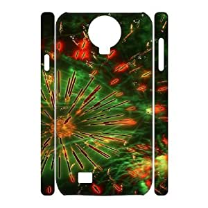 Brilliant fireworks Design Unique Customized 3D Hard Case Cover for SamSung Galaxy S4 I9500, Brilliant fireworks Galaxy S4 I9500 3D Cover Case