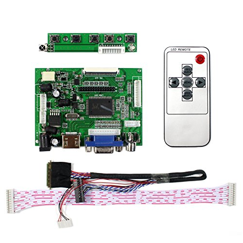 VSDISPLAY HDMI+VGA+2AV LCD Controller Board Work For 14'' 15.6'' 1366x768 40Pin LED Backlight LCD Panel by VSDISPLAY (Image #1)