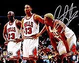 Autographed Scottie Pippen Photo - Dennis Rodman 8x10 w Michael Jordan & - Autographed NBA Photos