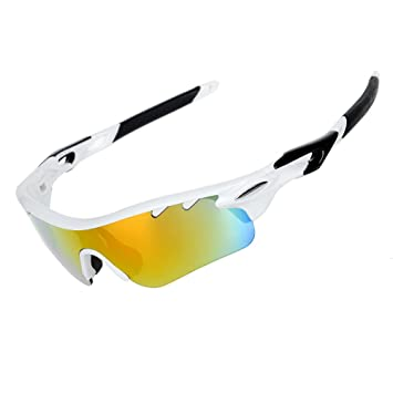 Gafas de sol VALORCIELO deportivas polarizadas, con protección UV 400, con 5 Lentes intercambiables