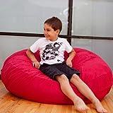 Jaxx Cocoon Jr. Kids Bean Microsuede Bag, 4', Cherry