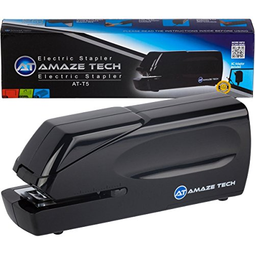 Electric Stapler- Heavy Duty Electric Stapler Automatic Jam-Free Home, School and Office Stapler - AC Powered and Battery Operated - 25 Sheet Capacity - Quiet, Compact and Portable