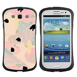 """Hypernova Slim Fit Dual Barniz Protector Caso Case Funda Para SAMSUNG Galaxy S3 III / i9300 / i747 [Luz floral abstracta del trullo púrpura rosado del pétalo""""]"""