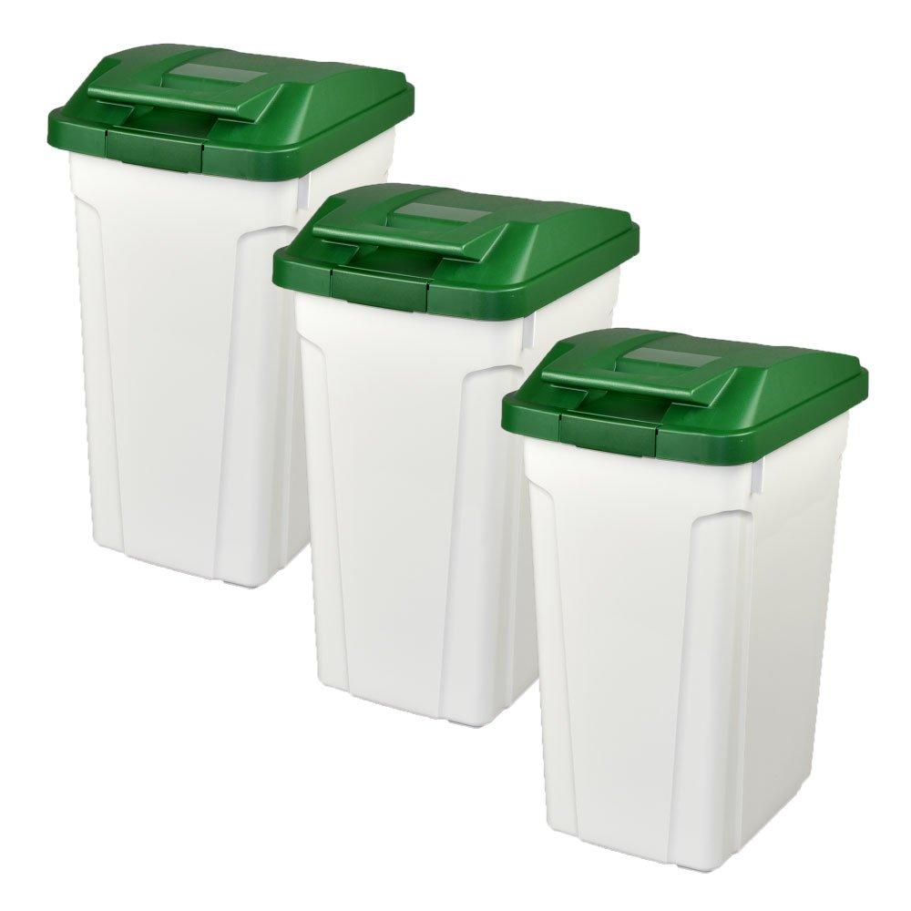 ASVEL ハンドルペール 35L 3個セット ゴミ箱 ごみ箱 ダストボックス おしゃれ ふた付き アスベル (グリーン×グリーン×グリーン) B07474Z7DW グリーン×グリーン×グリーン グリーン×グリーン×グリーン
