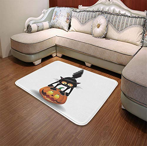 TecBillion Short Fur Floor Mat,Halloween Decorations,for Home Meeting Room,55.12