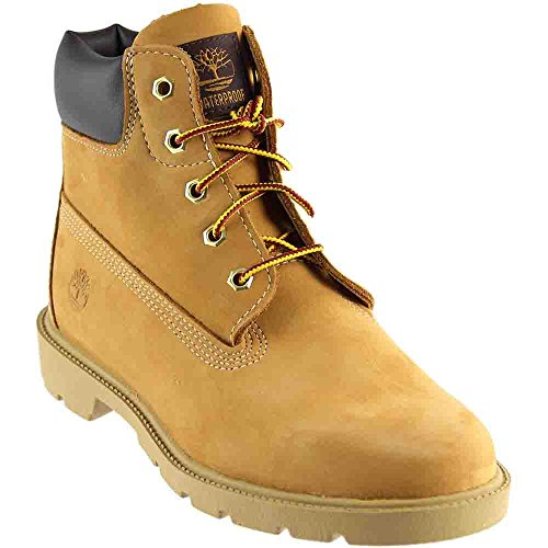 Timberland Youths Icon 6-Inch Premium Wheat Leather Boots 5.5 US (Boot Leather Icon)