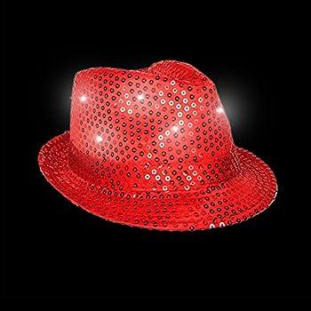 bca028f660162 Amazon.com  Christmas Dress Up Hats (Fedora + Coil Spring Santa HAT ...