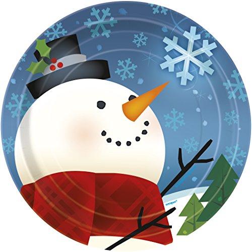 Joyful Snowman Holiday Dessert Plates, 8ct -