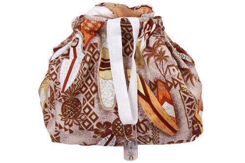 Couture Cruiser Bike Basket Liner & Tote Bag in 1 (Style: Surfin' Sandy) (Scooter Basket Liner)