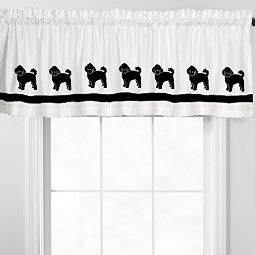 Shih Tzu Puppy Dog Window Valance Window Treatment – In Your Choice of Colors – Custom Made