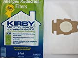 Kirby Generation 3, 4, 5, 6, Ultimate G and Sentria cloth HEPA Bags 6 Pack Disposable Kirby vacuum bags Traps 99.97% of particles as small as .1 microns Rated HEPA 11 - one of the industry's highest ratings for vacuum bag filtration Easy to install a...