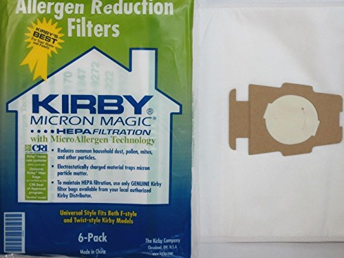 Lowest Price! Kirby 6 Cloth Vacuum Bags Allergen Reduction Filters