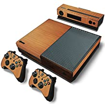 Xbox One Console Skin Decal Sticker Wood Custom + 2 Controller & Kinect Skins Set