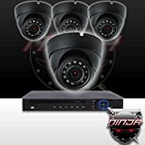 Ninja 4 Megapixel IP Eyeball Dome Camera 4CH Kit