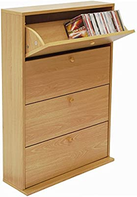 Watsons Cd 200 200 Cd Storage Cupboard Tilting 4 Drawer Beech