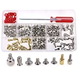Glarks 180-Pieces Phillips Head Computer PC Spacer Screws Assortment Kit for Hard Drive Computer Case Motherboard fan power graphics (Extra: Phillips Screwdriver)