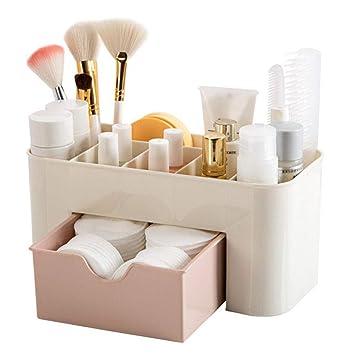 Amazon Com Makeup Organizer Cosmetic Organizer Box For Bathroom Organizer Drawers Makeup Brush Organizer Space Saving Space Storage Box Makeup Storage Organizer Beauty
