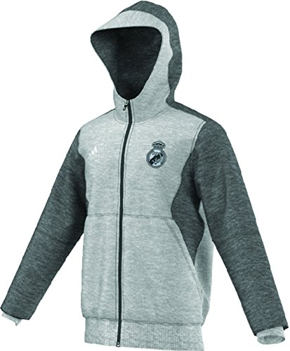fan products of adidas Mens Real Madrid FC Training Hooded Sweatshirt Medium Grey Heather AA6880 Size 2X-Large