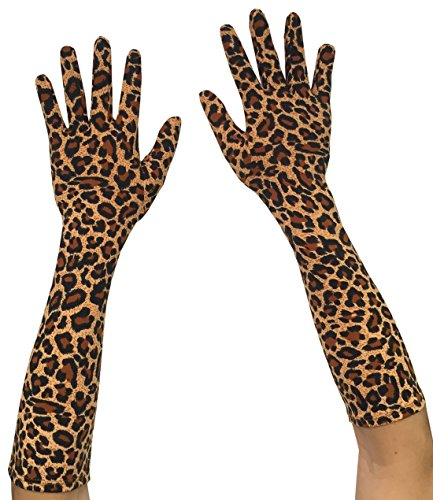 Seeksmile Adult Spandex Elbow Length Costume Gloves (Free Size, - Lightweight Print Gloves