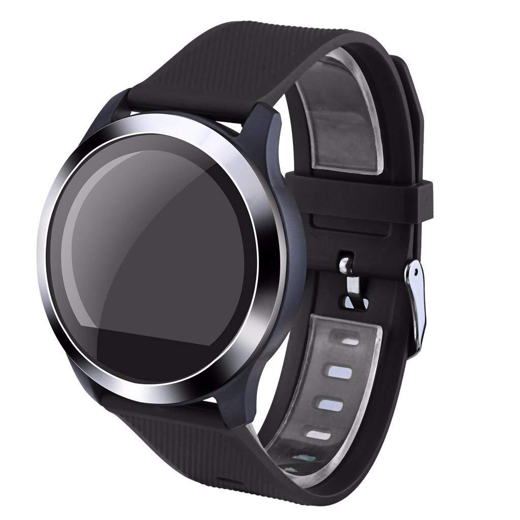 Letdown Smart Watch Sports Fitness Tracker Heart Rate Blood Pressure Calories Sport Smart Wrist Watch for Women,Men Waterproof Lightweight (Black)