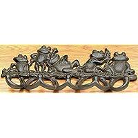 Multiple Frog Hook Cast Iron Wall Decor