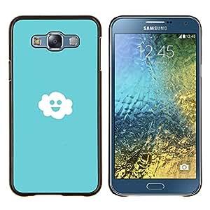 EJOOY---Cubierta de la caja de protección para la piel dura ** Samsung Galaxy E7 E700 ** --Amistoso Feliz Nube