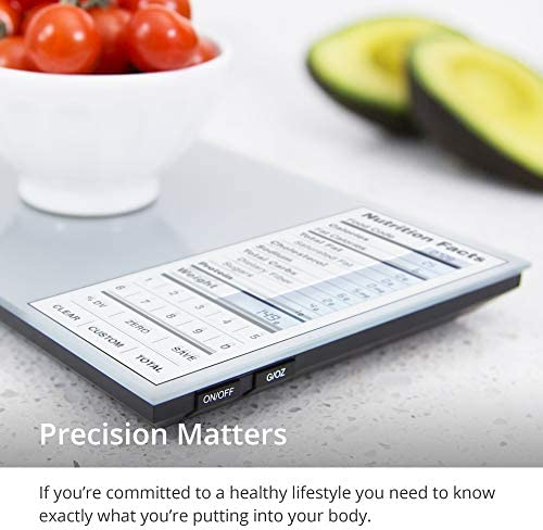GreaterGoods Nourish Digital Kitchen Food Scale, Not-Connected, Digital Food Code App Download Included (New Backlit) 3