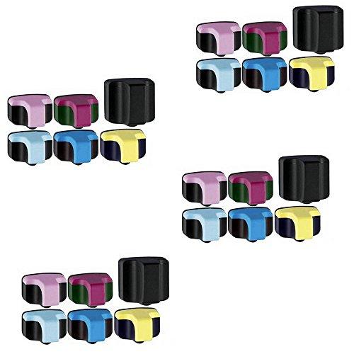 Light Magenta Package (HOTCOLOR (TM) 24-PACK Value Bundle 4 Black, 4 Cyan, 4 Yellow, 4 Magenta, 4 Light Cyan, 4 Light Magenta Ink cartridges for 02 Replacement inkjet cartridge)