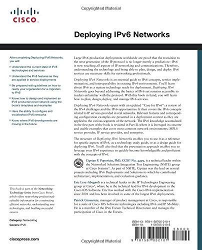 Cisco Press Deploying Ipv6 Networks Pdf