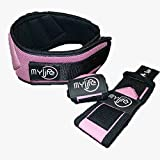 MY LIFE Weightlifting Belt and Matching Wrist Wrap Bundle, Weight Lifting Belt and Wrist Wraps for Men and Women, 6 Inch Belt, 12 Inch Wraps, Back Support and Wrist Support for Lifting (PINK, S) Review