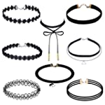 Outus 8 Pieces Choker Necklace Set St...