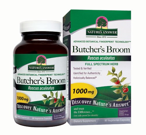 (Nature's Answer Butcher's Broom Root -- 90 Vegetarian Capsules -)