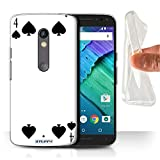 STUFF4 Gel TPU Phone Case / Cover for Motorola Moto X Play 2015 / 4 of Spades Design / Playing Cards Collection