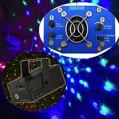 Mini Proiettore Effetto Luci Laser Per Disco Discoteca Dj.Proiettore Oleografico Luce Luci Per Disco Discoteca Mini Dj Verde