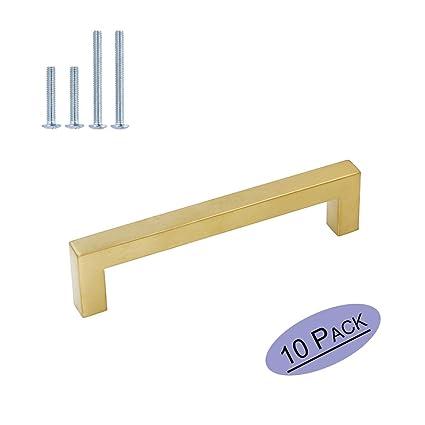 10 pieza Oro cálido Golden Muebles Tiradores Acero ...