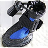 """Waterproof Pet Boots for Small to Large Dogs 4 Pcs (Blue, 9 (2.8""""x2.4""""))"""