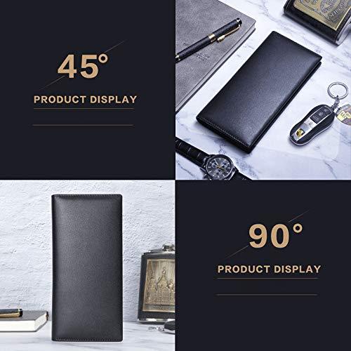 Per Multi Borsa Carte card Pelle Porta In Portafoglio Lyx1 Posizione Uomo Di Capacità Uomo Viaggio Nera Da Nero Credito Grande 7UxqwZ
