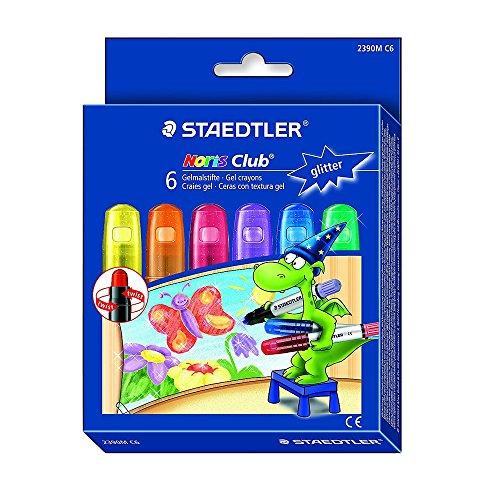 Staedtler 2390MC6 Glitter Gelmalstifte, 6er Pack