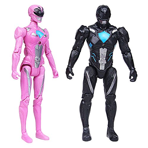 L'OGA Power Rangers Super Heroes Toys 5-inch Toys PVC Action Figures 6pcs/set Child Toys Gifts Decoration