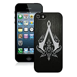 Game Case,Easy Use Case Assassins Creed Emblem Background Sign Cover Case for iphone 6 plus 5.5 5th in black
